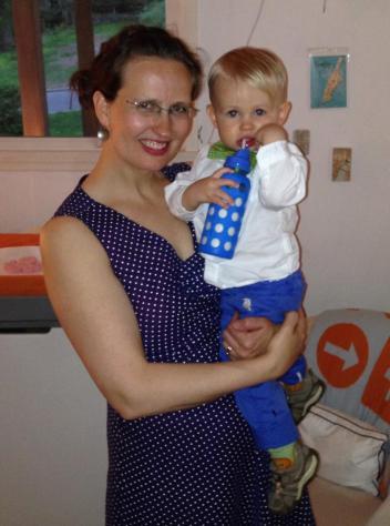 ian and polka dot dress