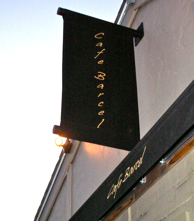 Cafe Barcel Sign