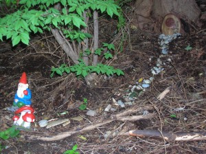 gnome with path to door