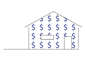 house with money wallpaper