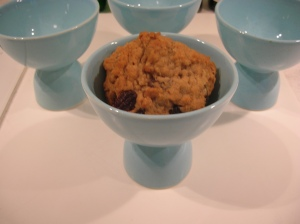 egg cup oatmeal cookie