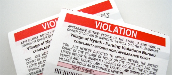 nyack parking tickets