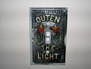 outen the light switch cover