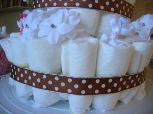 diaper cake rubber bands