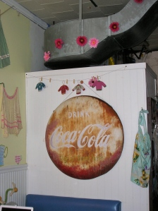 Lulu's Cafe Vintage Sign