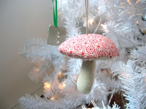 Buttercup and Friends Mushroom Ornament