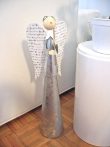 silver angel decoration