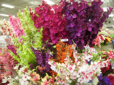 fake flowers Michael's