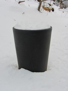 snow in planter