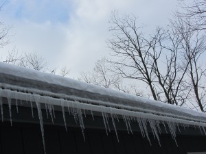 icicles off roof