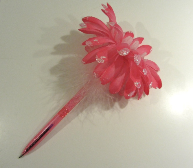 fake flower pen