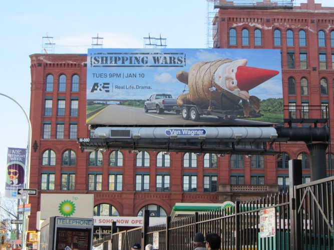 shipping wars gnome billboard