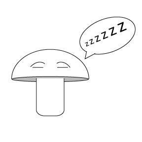 tired mushroom