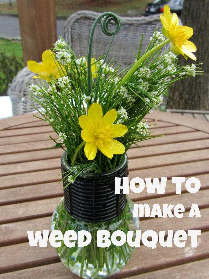 how to make a weed bouquet
