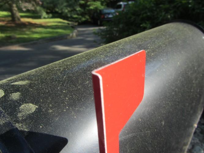 mail box pollen