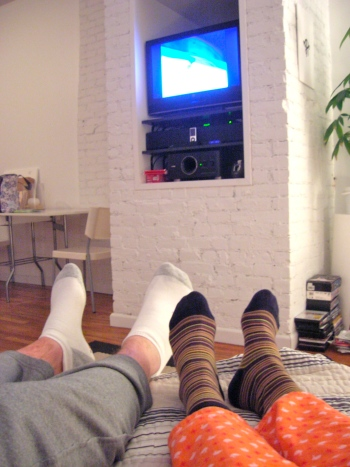 white brick in apartment