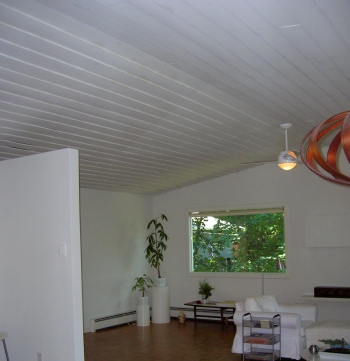 living room before skylights
