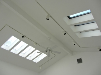skylights in studio