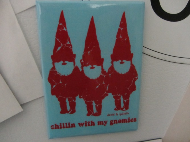 chillin with gnomies magnet