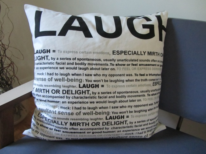 Laugh pillow CB2