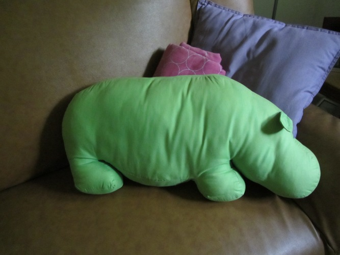 hippo pillow