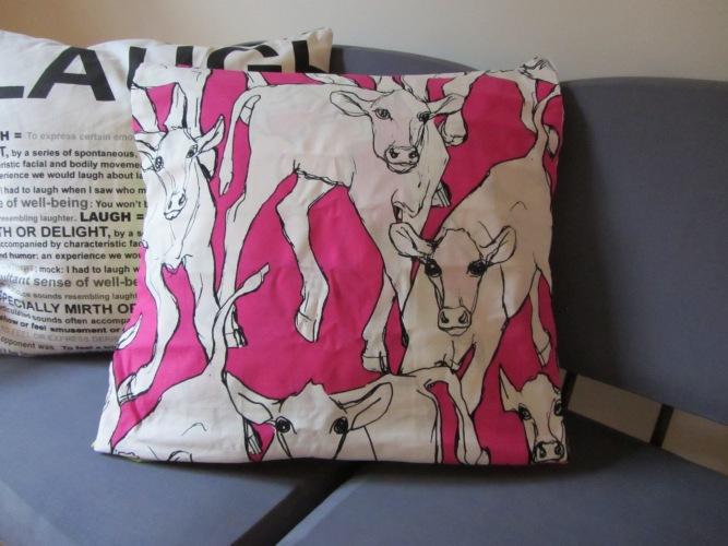 Cow pillow marimekko