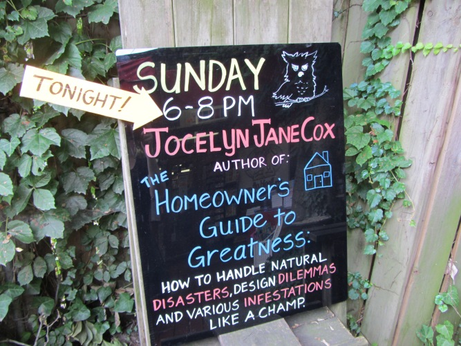 Book Loft Jocelyn Jane Cox sign