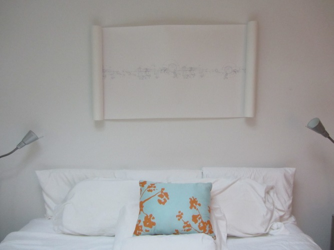 Robert Strati Digital Scroll above bed