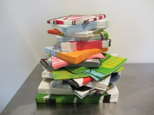 pile of napkins