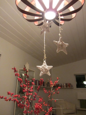 star ornaments red berries