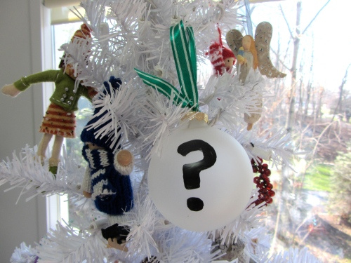 question mark ornament