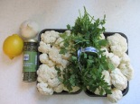 warm cauliflower salad ingredients