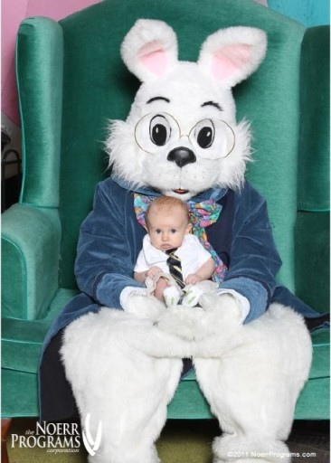 Ian with the easter bunny