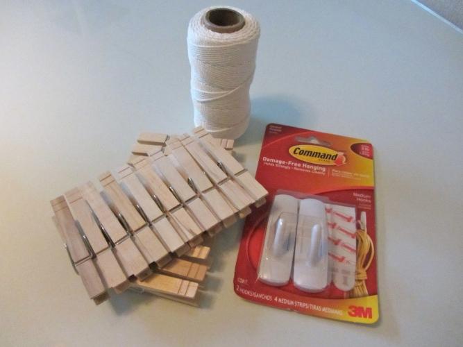 clothespins clothesline