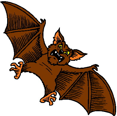 bat bats clip clipart brown flying rabid room cartoon living rabies cliparts decor wall around halloween farm thriller library rapidly
