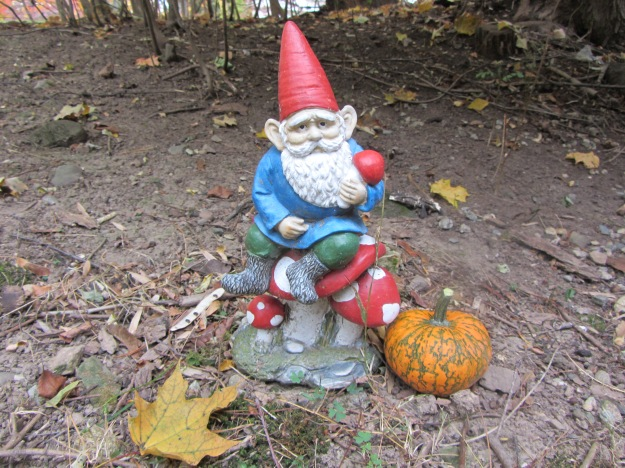 gnome with pumpkin