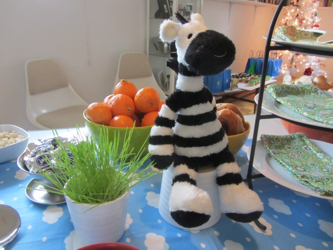 zebra birthday table