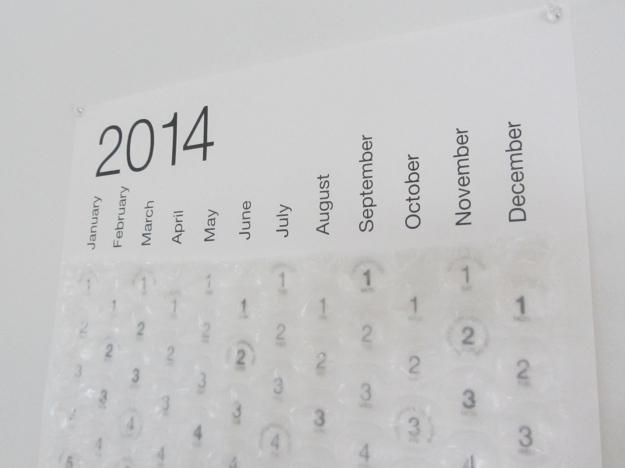 bubble calendar 2
