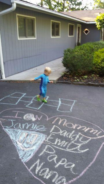 hopscotch on driveway