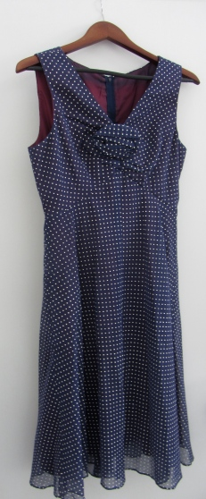 miss elliette polka dot dress