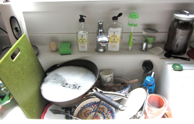dishes in sink 2