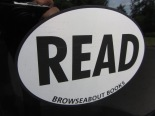 READ Broweseabout Books bumper sticker