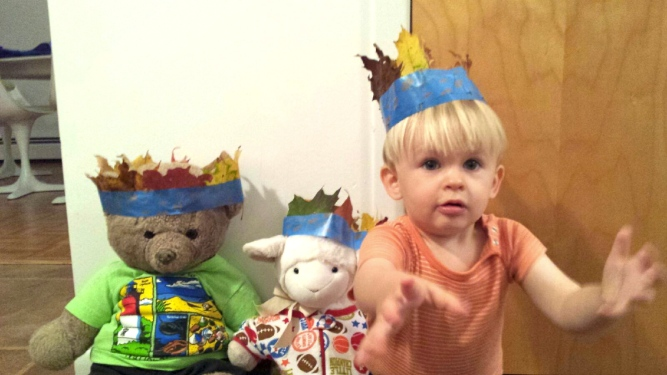 leaf crown toddler stuffed animals