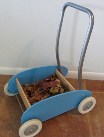 cart with leaves