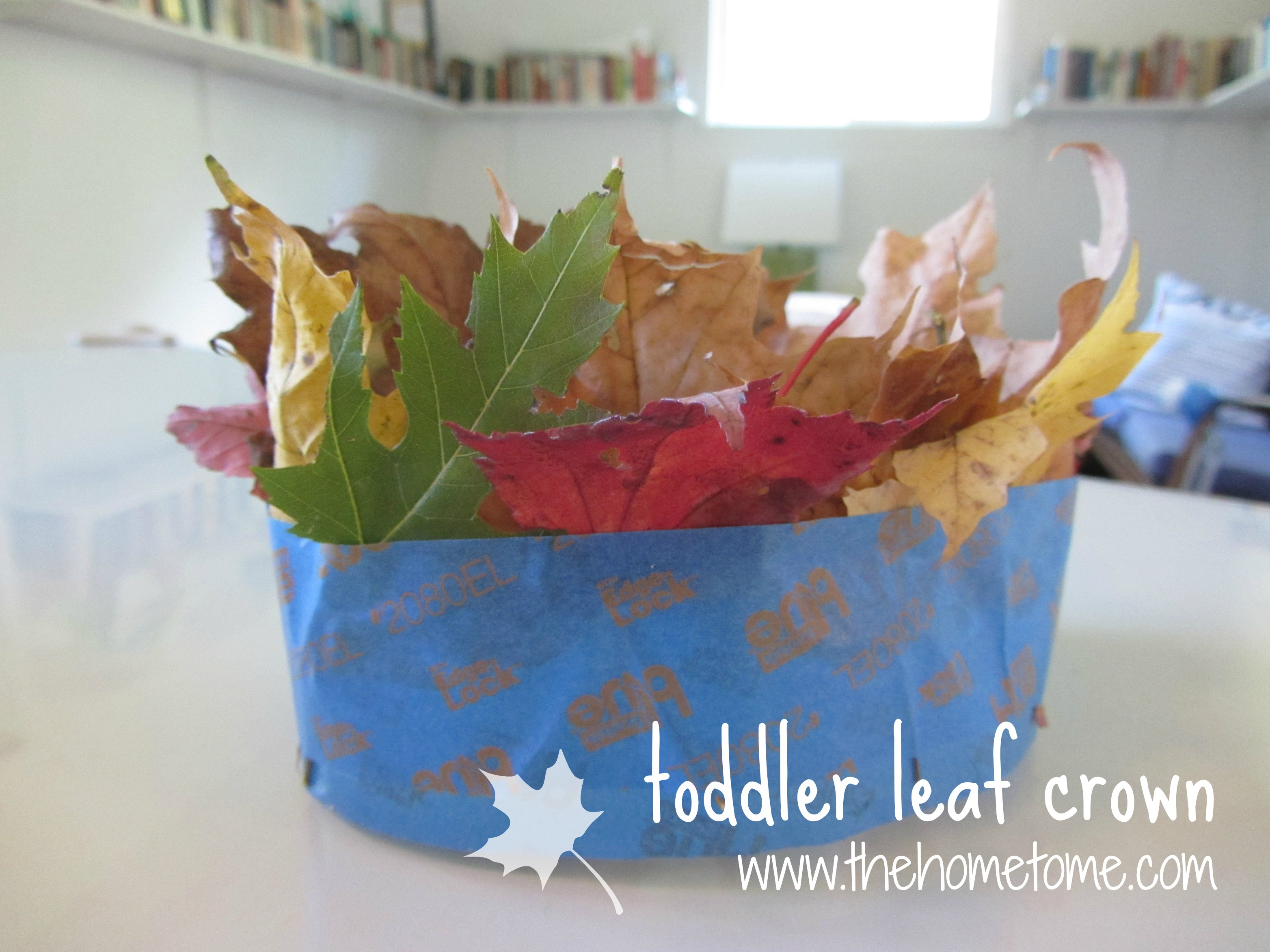fc670a9b5e5 crafty  diy quick leaf crown for toddlers – THE HOME TOME