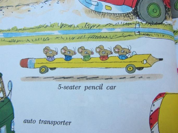 Richard Scarry pencil car