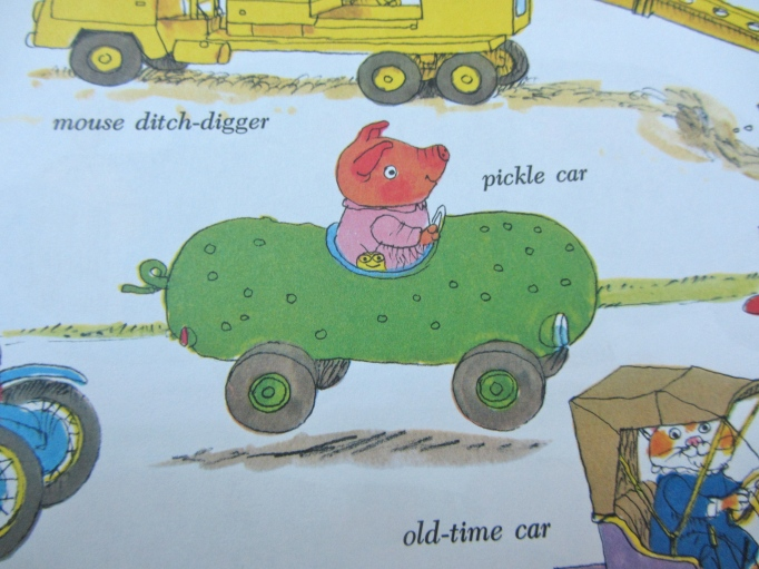 pickle car Richard Scarry
