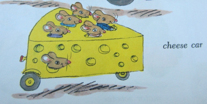 Cheese car Richard Scarry