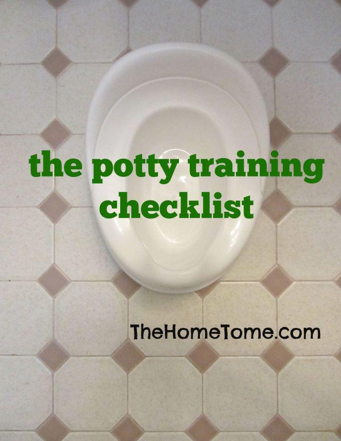 potty training checklist