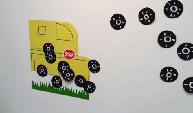 Pin the Wheels on the School Bus